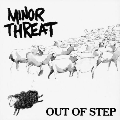 """3"""" Minor Threat Punk Band Old School Sheep Out Of Step 90s Vinyl Cool Sticker"""