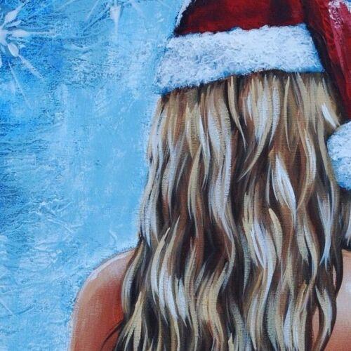 Santa/'s Helper by pollard Christmas Nude 8x10 signed Christmas holiday print