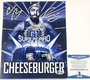 ROH-Wrestling-Cheeseburger-Autographed-8X10-Photo-Signed-WWE-NXT-AEW-Beckett-COA