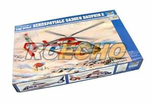 TRUMPETER-Helicopter-Model-1-48-Aerospatiale-SA365N-Dauphin-2-Hobby-02816-P2816