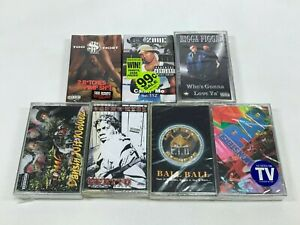 Lot-of-7-Cassette-Tapes-Rap-Hip-Hop-90-039-s-Too-Short-Lil-Zane-112-Strik-9ine-NEW