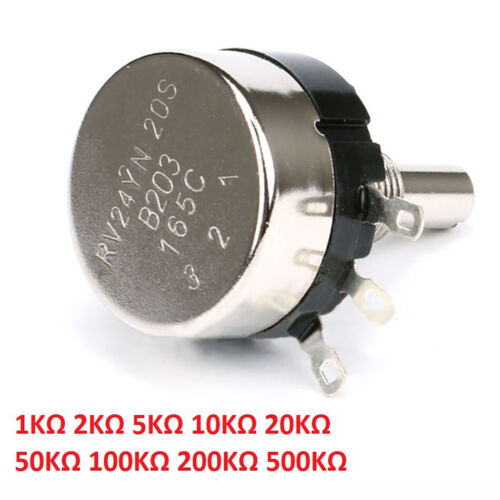 RV24YN20S Single Turn Carbon Film Potentiometer Einstellbar 1KΩ bis 500KΩ