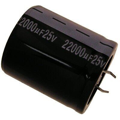 2 pcs JAMICON Elko Kondensator Snap-In  22000uF 25V 35x40mm 105°  #WP