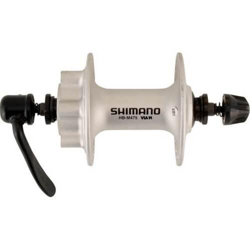 """Shimano 475 Avant 32 Trou Vélo Roue Disque HUB /""""Argenté/"""" HB-M475"""