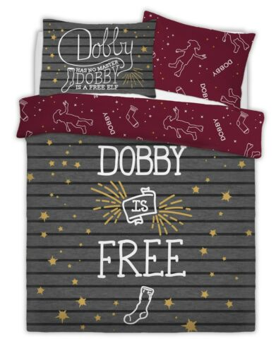 WARNER BROTHERS HARRY POTTER DOBBY THE ELF Duvet Cover Set with Pillowcases