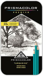 Prismacolor Premier Graphite Sketch Pencil Set, 12-Piece, Medium