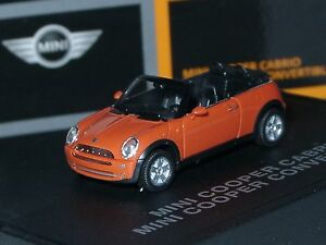Herpa New Mini Cooper Cabrio, HOT-ORANGE - dealer model 094 - 1:87