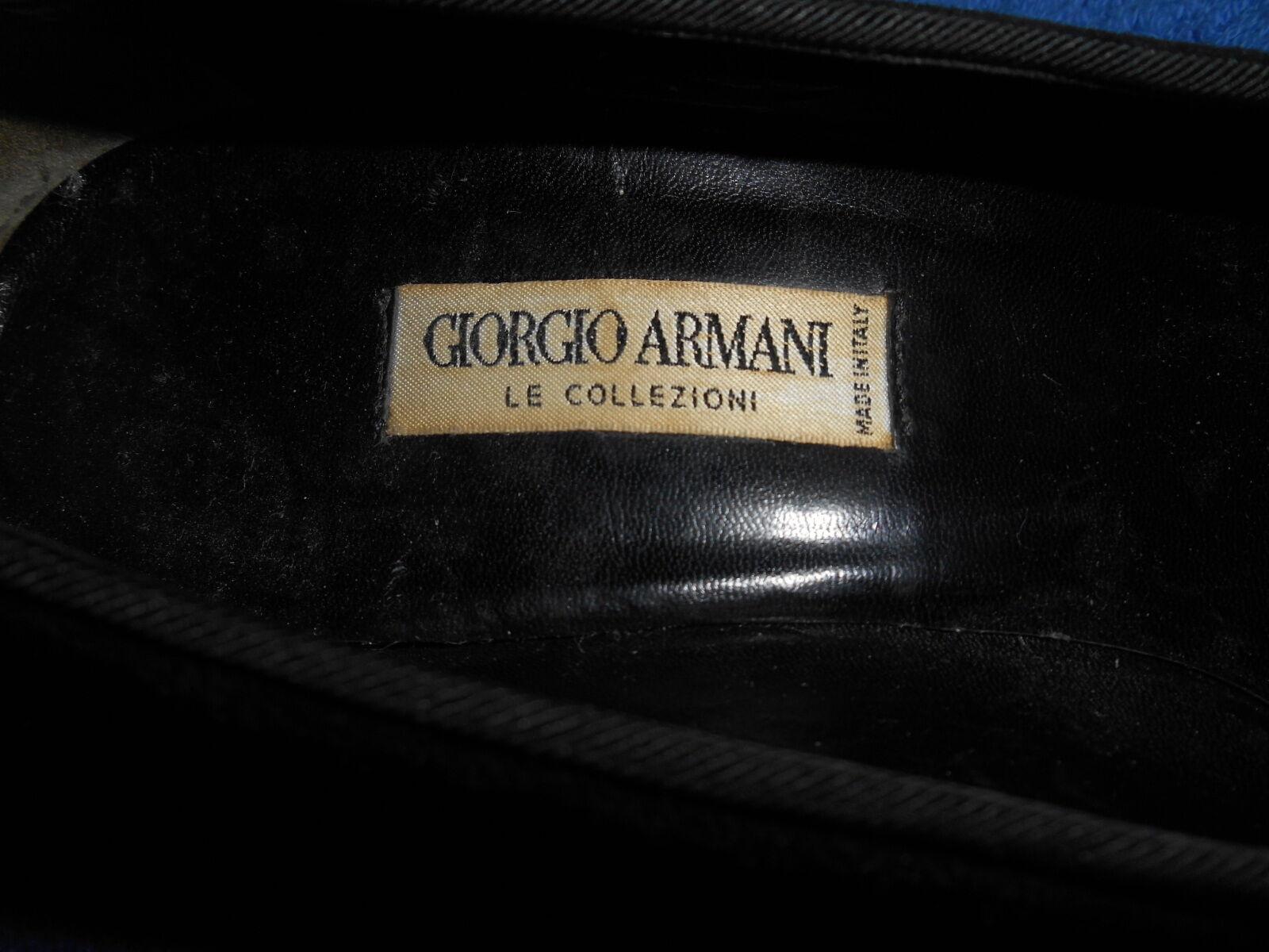 GIORGIO ARMANI LE LE LE COLLEZIONI BLK VELVET PUMP schuhe Größe 8.5 A BEAUTIFUL TALY. 00f287