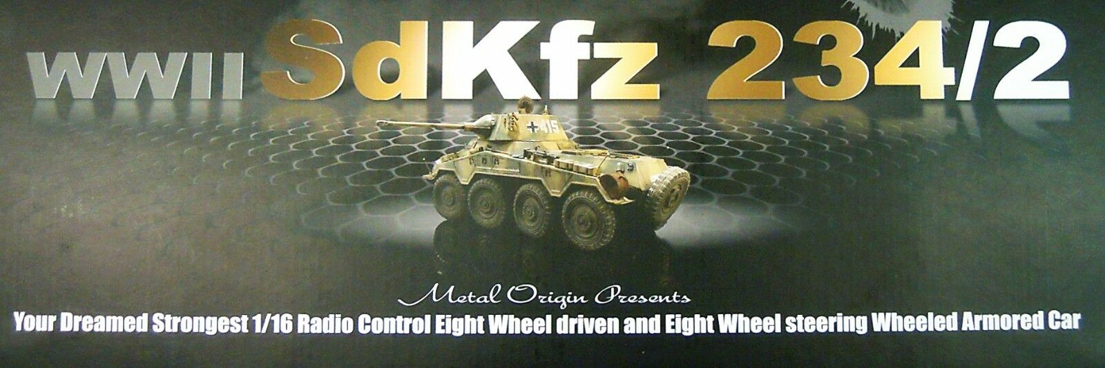 RC habilitado para Kit sd.kfz.234 2  puma , TORRO, 1 16, plástico + metal,  novedad