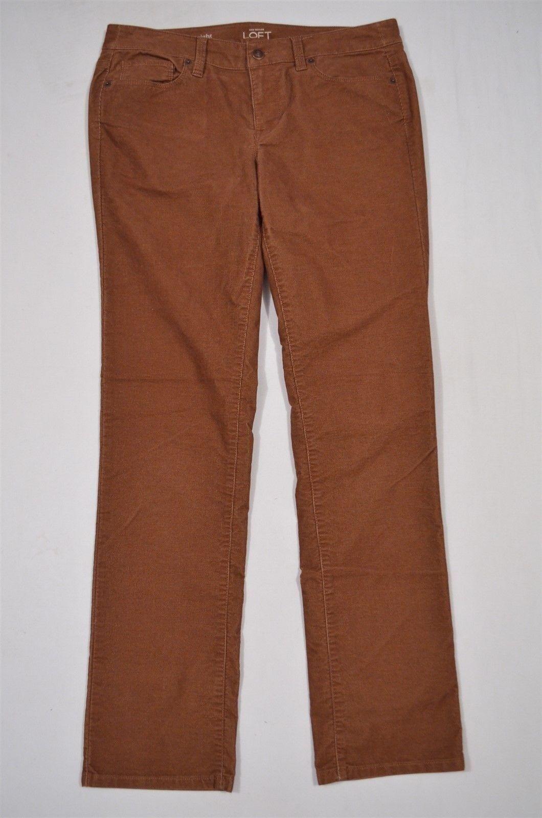Ann Taylor LOFT Brown Corduroy Modern Straight Size 28 6