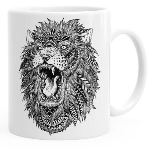 Cool tasse avec brüllendem zentangle Lion autiga ®