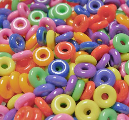 14 Mm Plastique Anneaux Multi Circus couleur 100pc pour artisanat enfants école oiseaux Toy VBS
