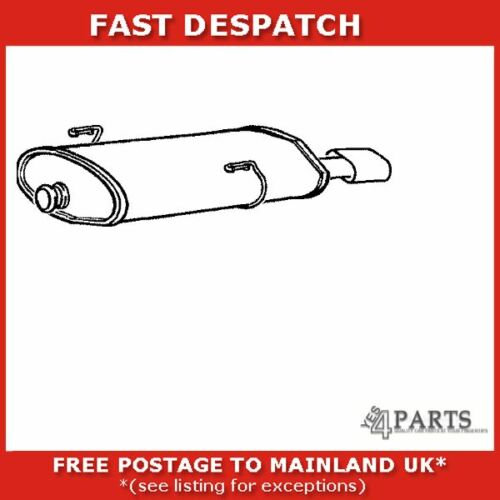 PG568L 4791 KLARIUS END SILENCER FOR PEUGEOT 206 2 1999