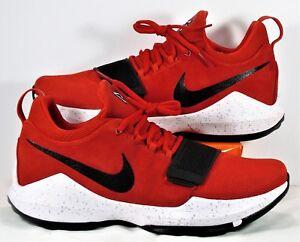Nike PG 1 Paul George University Red & Black Basketball Sz 9.5 NEW 878627 602