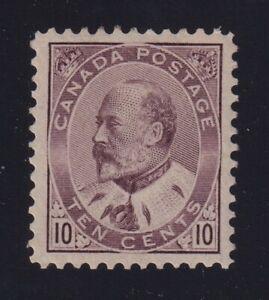 Canada Sc #93 (1903) 10c brown lilac King Edward VII Mint VF NH MNH
