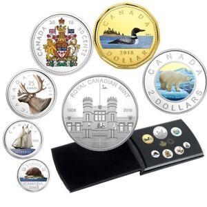 Classic-Coins-2018-Canada-Fine-Silver-Coloured-Coin-Set