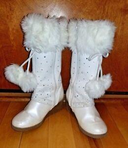 Canyon-River-Blues-Winter-white-Dress-Boots-Size-2-Child-039-s