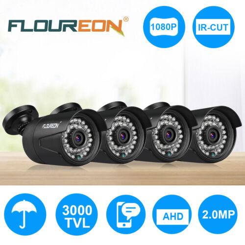 FLOUREON 1080P 2.0MP Waterproof CCTV AHD DVR Security Bullet Camera Night Vision