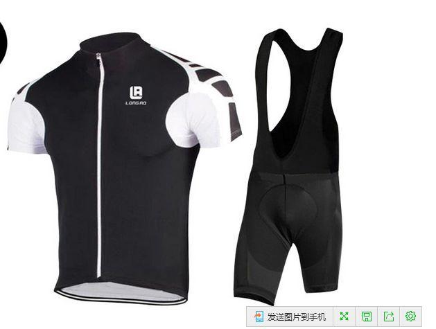 Man's New Cycling Bike Short Sleeve Clothing Set Bicycle Men Jersey Bib Shorts