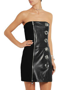 76a6abc1bda Image is loading VERSUS-VERSACE-Anthony-Vaccarello -2195-strapless-leather-logo-