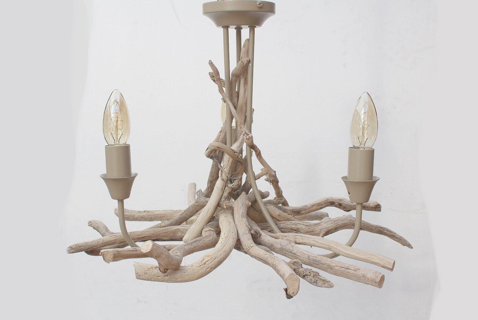 Driftwood Lampadario, Driftwood branchthree RACCORDO DI LUCE 39 CENTIMETRI GOCCIA Drift Wood