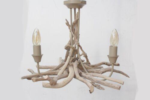 Driftwood BranchThree light Fitting 39 cm drop Drift Wood Driftwood Chandelier