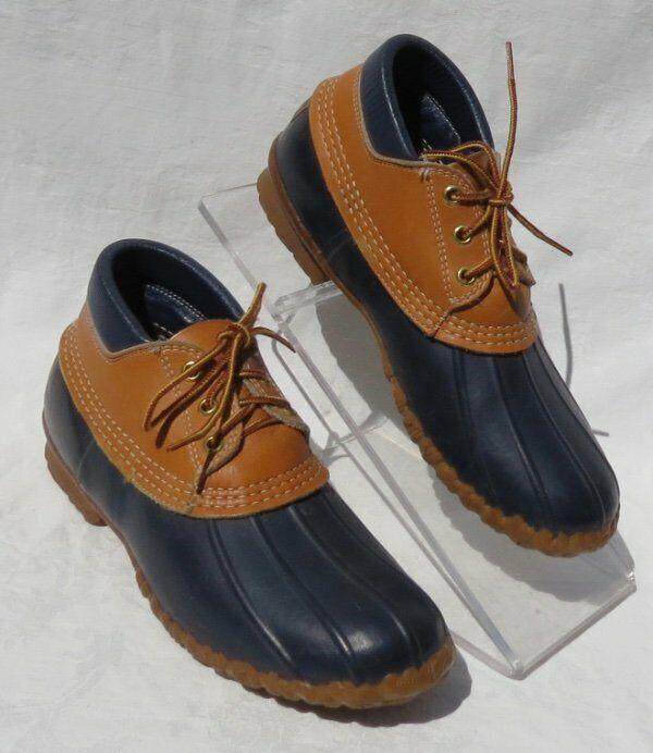 Ll Bean Damen Wasserfest Marineblau Maine Jagd Schuhe Knöchel Low Stiefel US 7 8