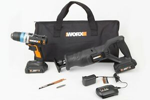 WORX-WX950L-20V-LI-2pc-Combo-Kit-with-Ai-Drill-and-Reciprocating-Saw