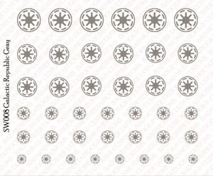 4 Sets Star Wars Insignia Mega Pack 1//18 Scale Tattoos Waterslide Decals