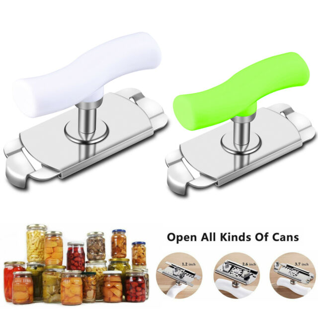 Adjustable Can Opener Stainless Steel Multi-Function Labor Saving Can Opener for Kitchen Open Jar Easily