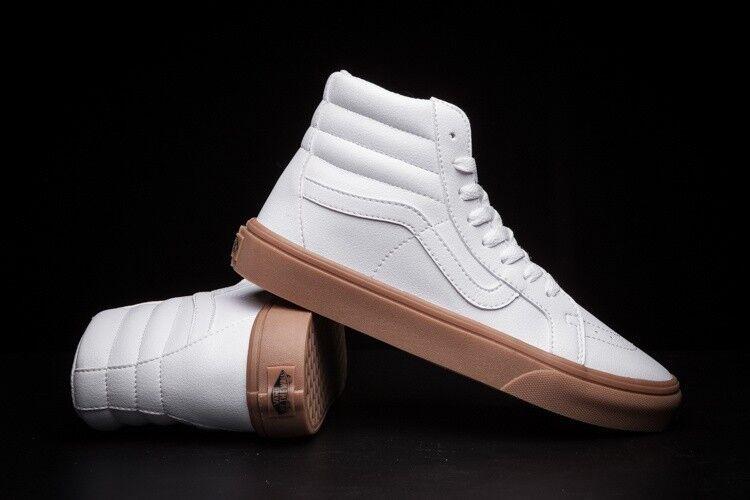Vans Off the Wall Sk8 Hi Slim Light Gum True White shoes Mens 4.5 Womens 6
