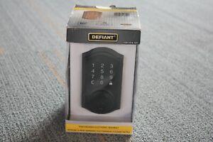 Defiant Castle Matte Black Single Cylinder Neo Touch Electronic Keypad Deadbolt