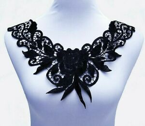 Lace-Fabrics-Milk-Silk-Polyesters-Cotton-Embroidered-36-32cm-Collar-Laces-Fabric