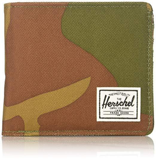 Herschel roy plus coin RFID Wallet monedero verde Nuevo