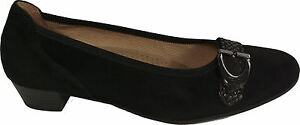vera wide Gabor Nero Nuovo 25mm Nabuk pelle Shoes G in Pumps Heel qFAFIwB