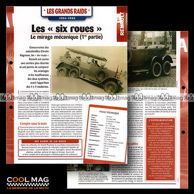 #hvf.05.03 Renault Mh 6 Roues 1924-1932 6x6 Classic Car Fiche Auto Weelderig In Ontwerp