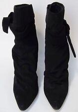 Bitten Shoes Ankle Boots Heels Sarah Jessica Parker Black Womens Size 7.5