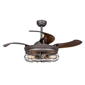 46 ceiling fan with light remote fandelier retractable - Fan with retractable blades ...