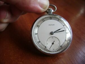 Molnija SOVIET Russian USSR СССР Pocket Watch 15 jewels 1952