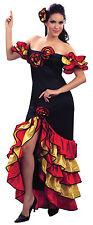 Ladies SPAGNOLO Rumba Latino Danza Costume Ballerina Da Donna UK 10-14