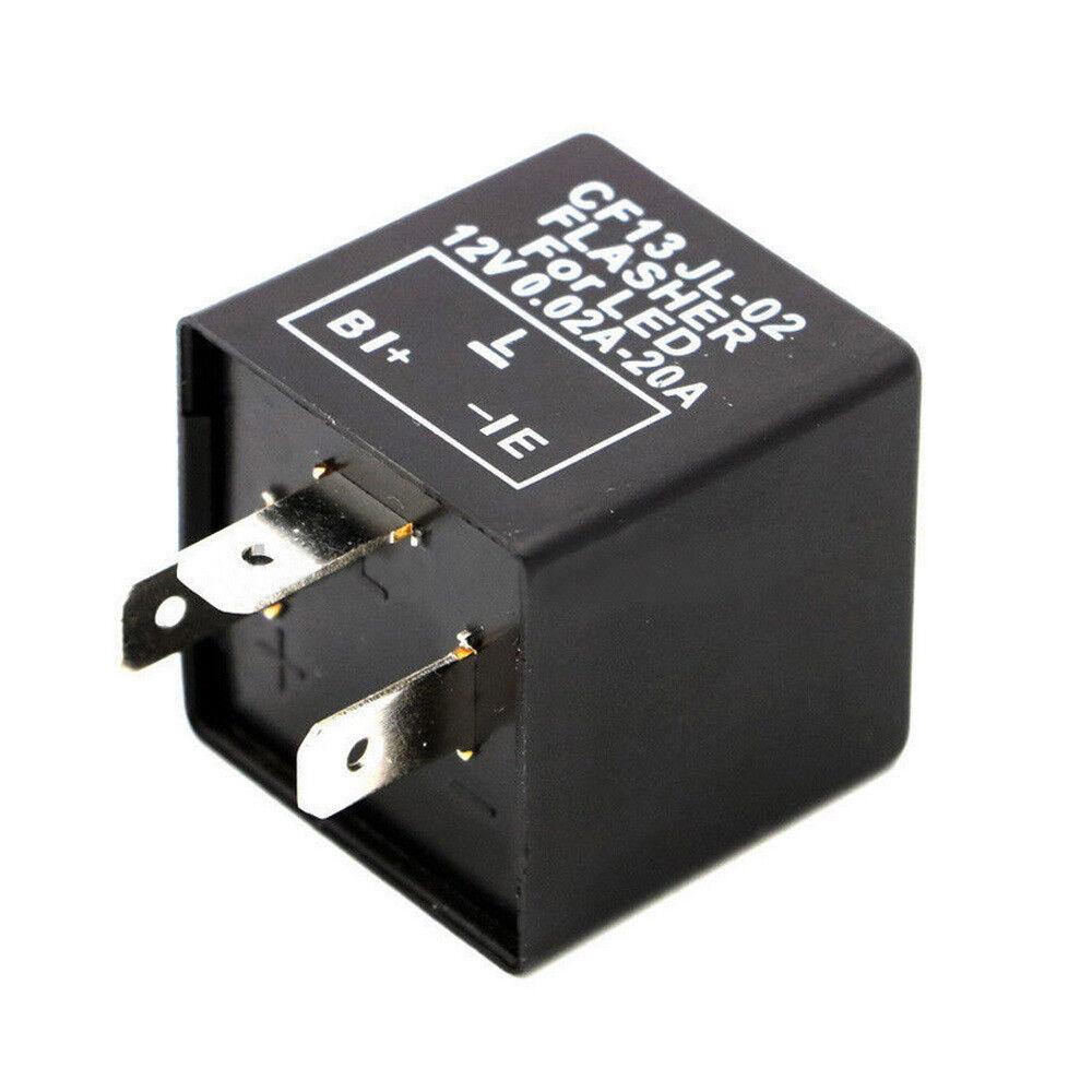 Lastunabhängig Blinkrelais LED-geeignet 12V 0,02-20A 3Polig Flasher KRAD