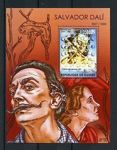 image is loading guinea 2015 mnh salvador dali 1v s s art
