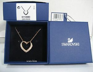 59be4a4d6489a Details about Swarovski Cupidon Pendant, Heart, rose gold-plated clear  crystal MIB 5113583