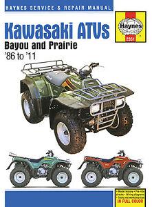 Haynes-Manual-2351-Kawasaki-Bayou-amp-Prairie-ATV-Quads-KLF220-250-300-KVF300