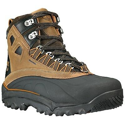 New Timberland Men Brown Rime Ridge Mid Waterproof Insulated Boots Shoes 2410R