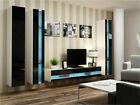 Seattle B4 - floating entertainment center for living room / modern tv wall unit