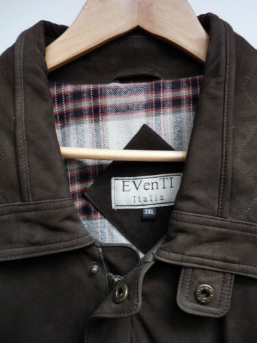 Eventi Heavy Suede Jacket Coat    Tan Or Dark Brown  XS up to 4XL   Ret £497.99
