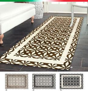Tappeto arredo moderno salotto camera letto bagno elegante antiscivolo mod like3 ebay - Tappeto bagno moderno ...