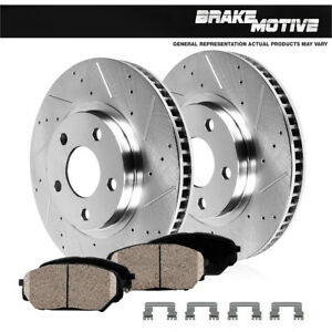 Front-Drill-Slot-Brake-Rotors-amp-Ceramic-Pads-For-1992-2000-2001-Toyota-Camry