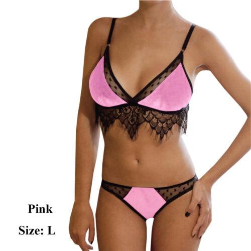 Underwear Babydoll Women Lace Dressing Deep-V Velvet Lingerie Set Push Up Bra
